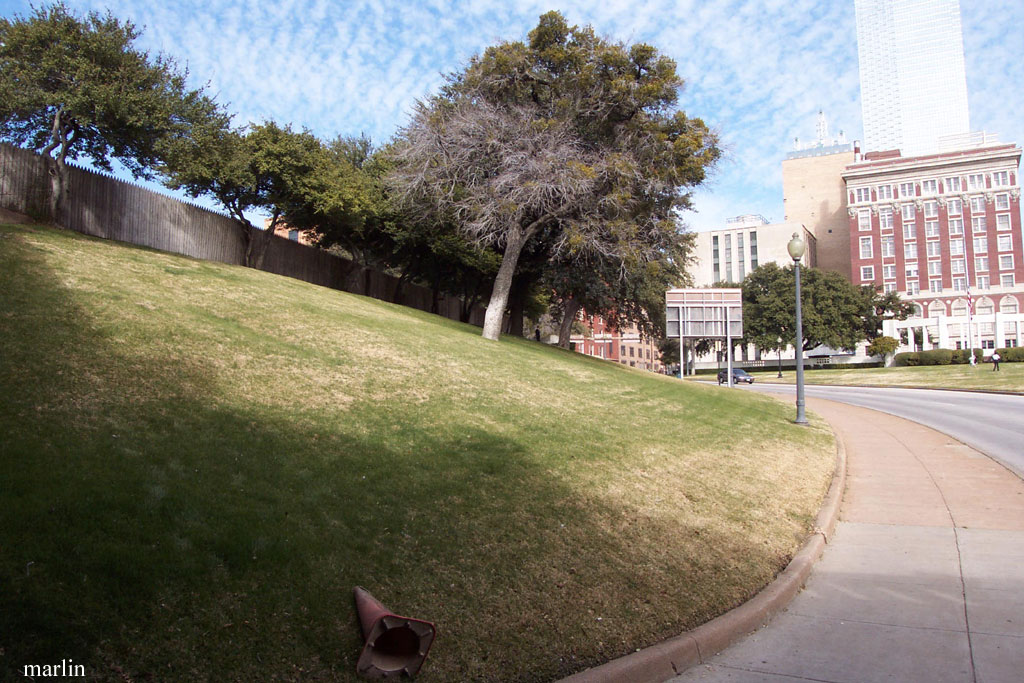 The grassy knoll at Dealey Plaza, Dallas, Texas