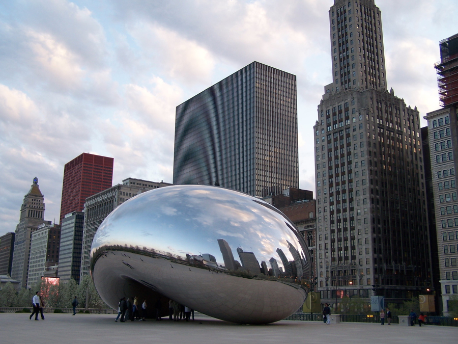 Silver Mountain Water Park >> Chicago, Illinois - The Bean: Cloud Gate Sculpture at ...